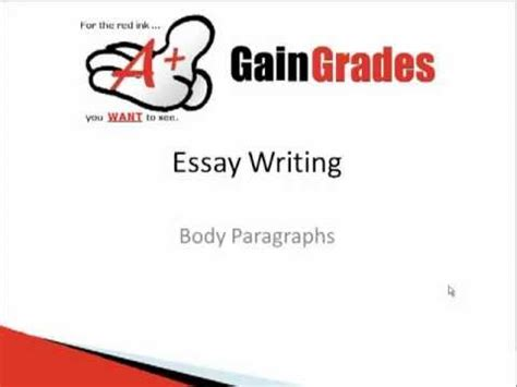 How to write main body paragraphs in IELTS writing task 2